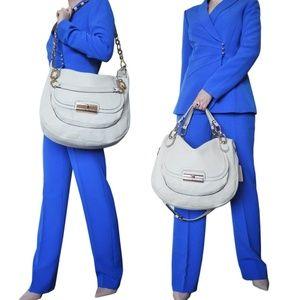 Coach Kristin Beige Leather Slouchy Shoulder Bag